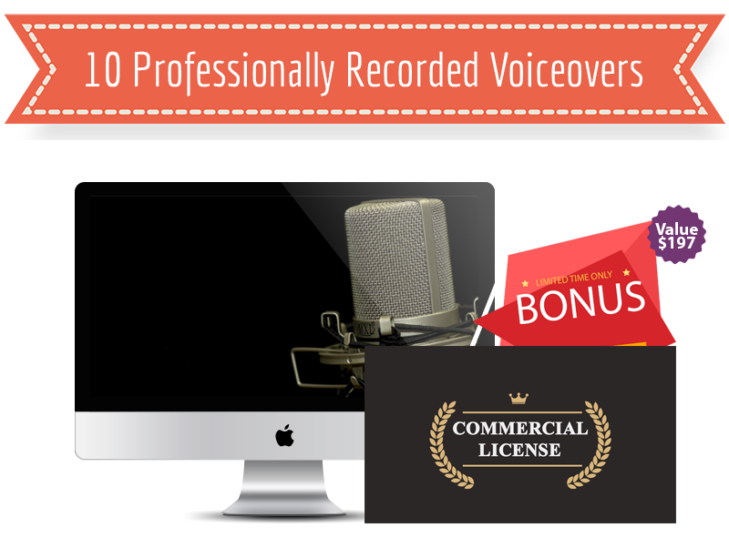10 Professionally Recorded Voiceover